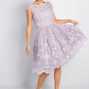 Prom Formal Lilac Dress Lilac Tulle NWT Size 4